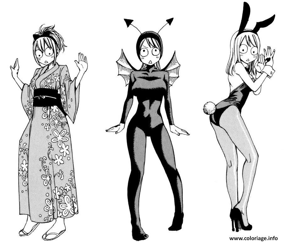 Dessin Lucy clothes from a monster academy Coloriage Gratuit à Imprimer