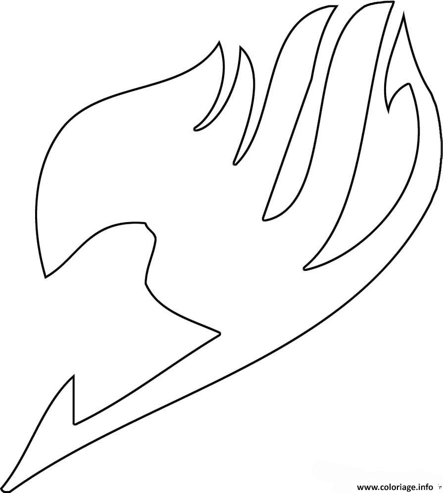 Dessin fairy tail embleme Coloriage Gratuit à Imprimer
