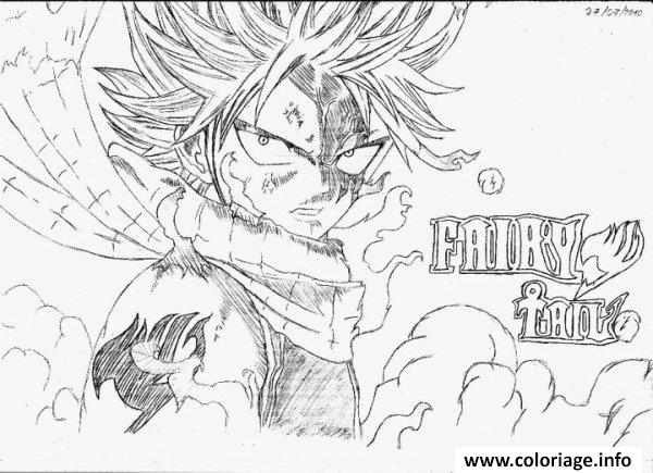 Coloriage Natsu Fairy Tail Dessin