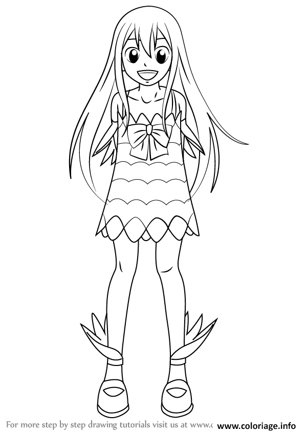 Coloriage How To Draw Wendy Marvell From Fairy Tail Step 0 Dessin à Imprimer
