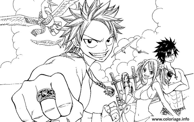 Coloriage manga fairy tail 17663 - Dessin anime de fairy tail ...