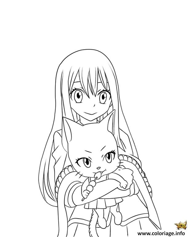 Coloriage Wendy Et Charles Fairy Tail Manga Dessin
