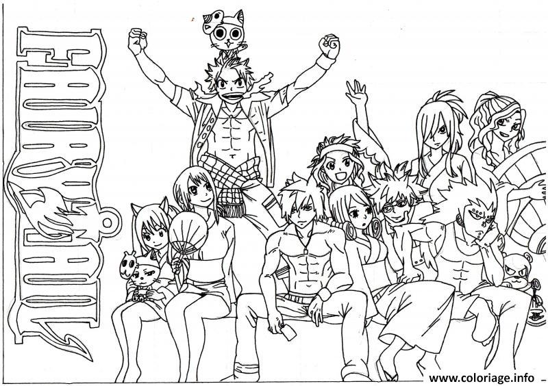 Coloriage fairy tail 14415 dessin - Fairy tail coloriage ...