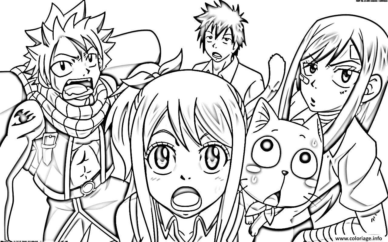 Coloriage fairy tail manga 12 - Dessin anime de fairy tail ...