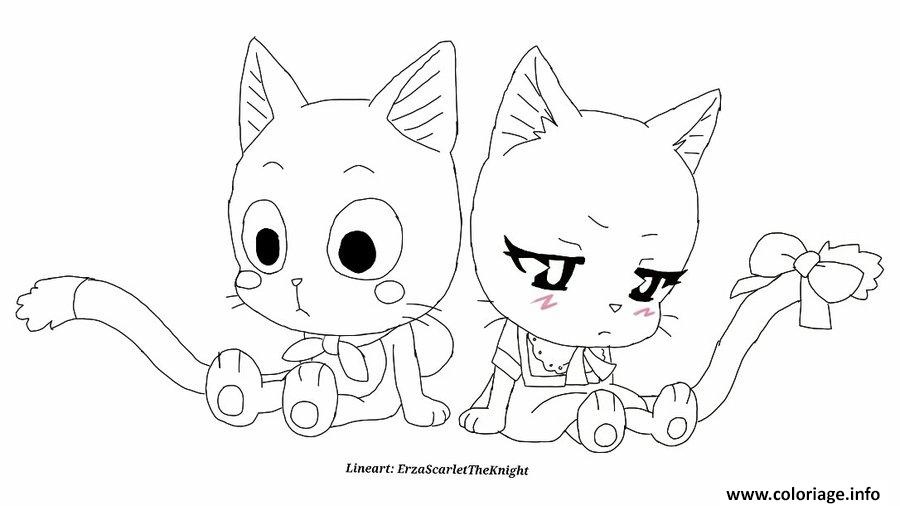 dessin fairy tail manga 02 coloriage gratuit imprimer