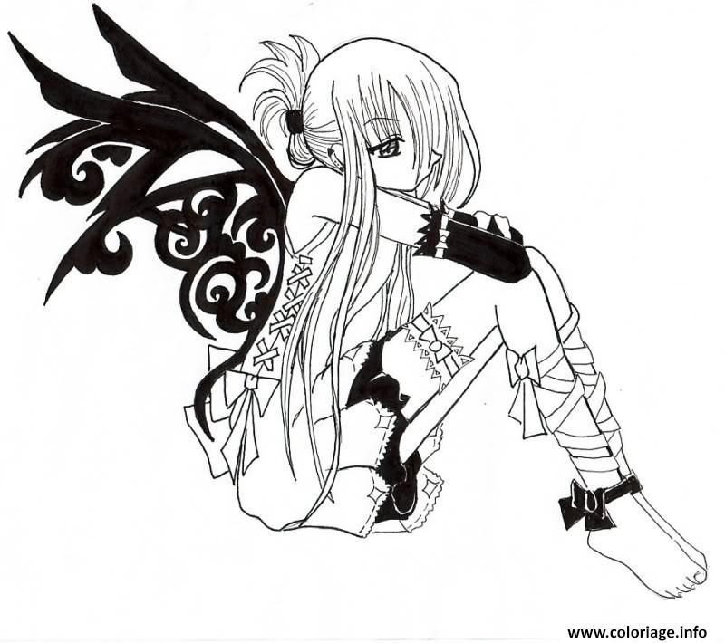 Dessin fairy tail manga 11 Coloriage Gratuit à Imprimer