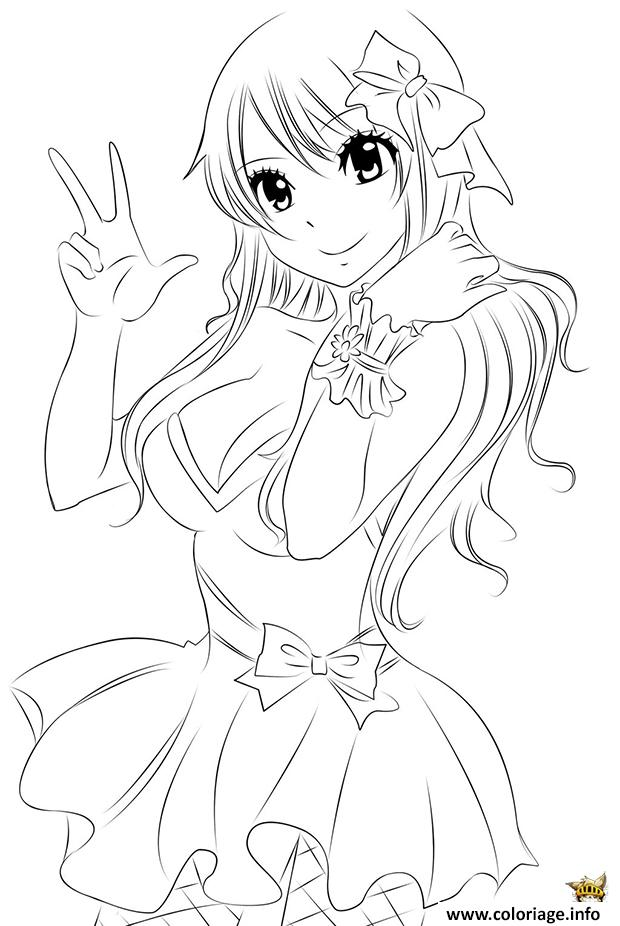 Coloriage Lucy Fairy Tail Dessin
