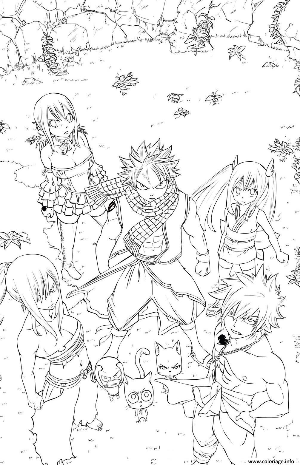 Coloriage natsu dessin - Dessin de manga a colorier ...