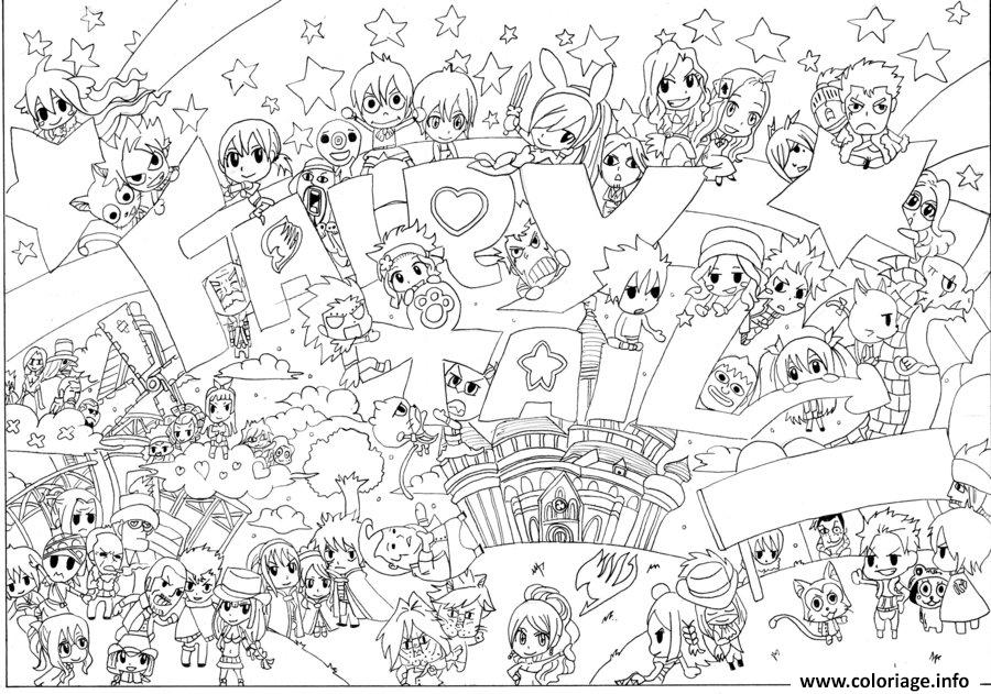 Coloriage Fairy Tail Chibi By Seky01 D5cvb37 Dessin
