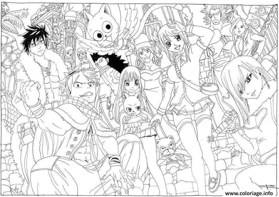 Coloriage Fairy Tail A Imprimer