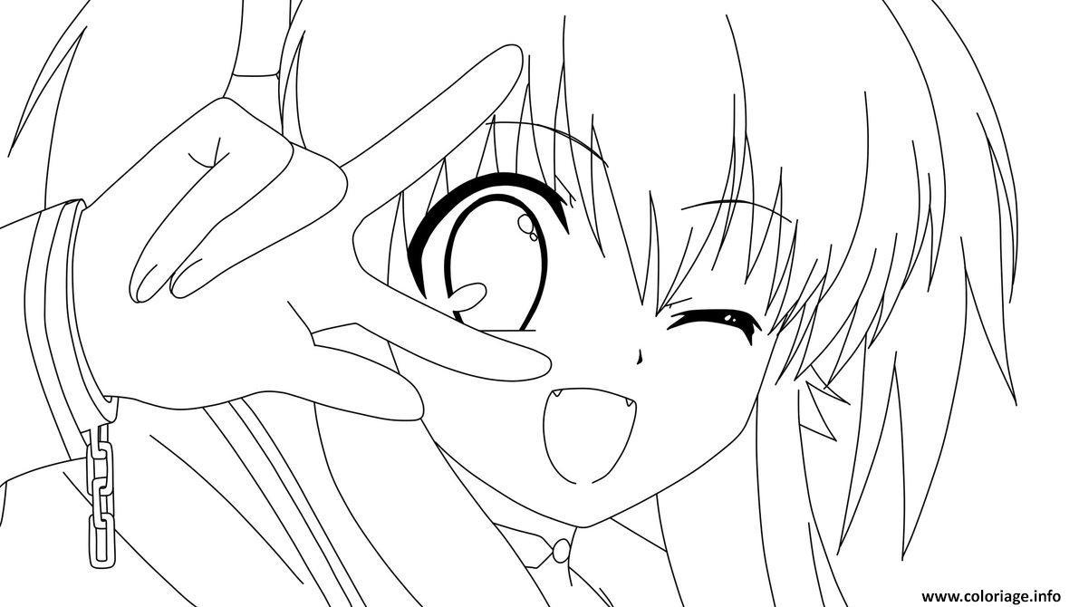 Coloriage Fille Manga 87 Dessin