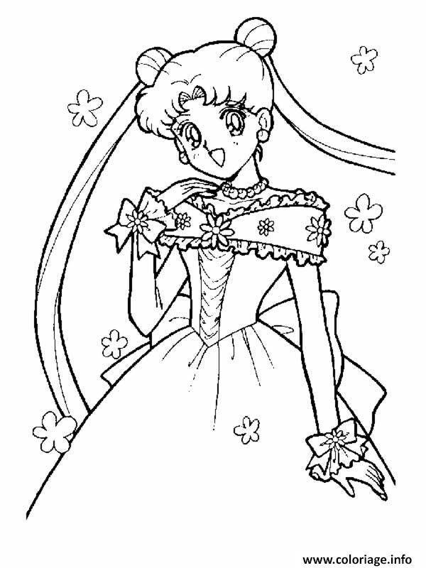Coloriage Fille Manga 12 Dessin