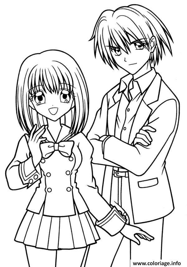 Coloriage fille manga 49 - JeColorie.com