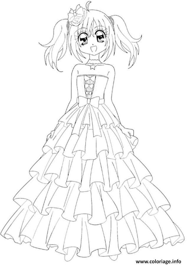 Coloriage Fille Manga 115 Dessin Manga à imprimer
