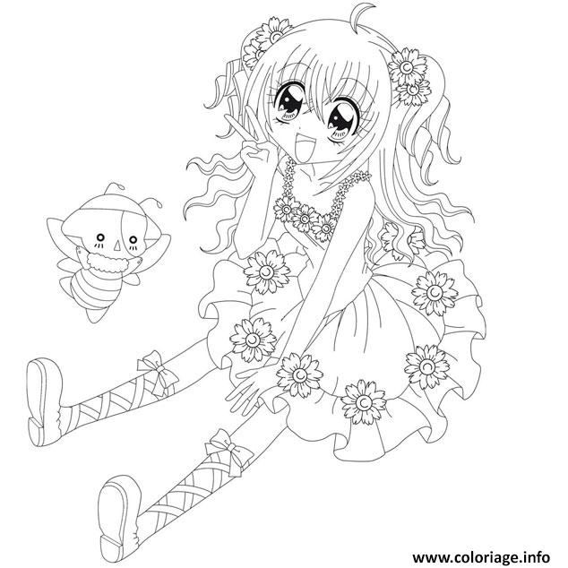 coloriage fille manga 148 dessin. Black Bedroom Furniture Sets. Home Design Ideas