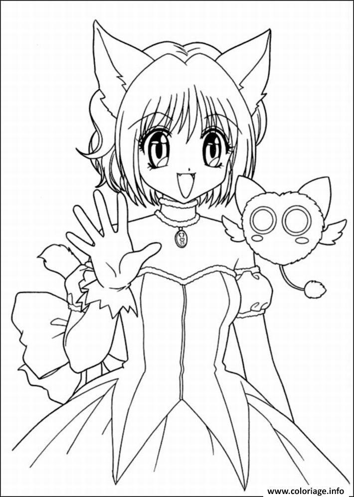 Coloriage Fille Manga 60 Jecolorie Com