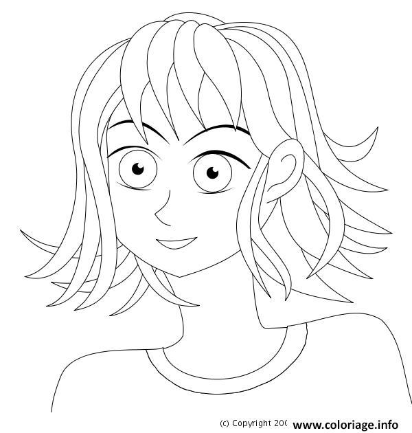 Coloriage fille manga 31 - Coloriage manga fille ...
