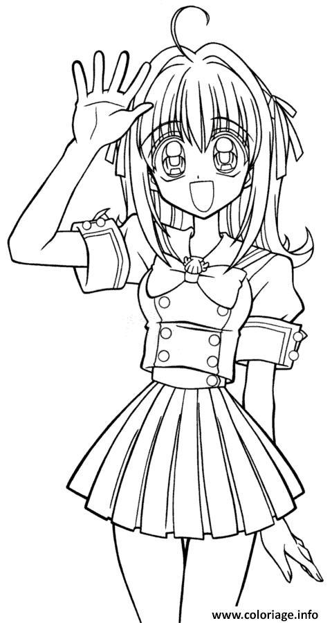 Coloriage Fille Manga 35 Dessin