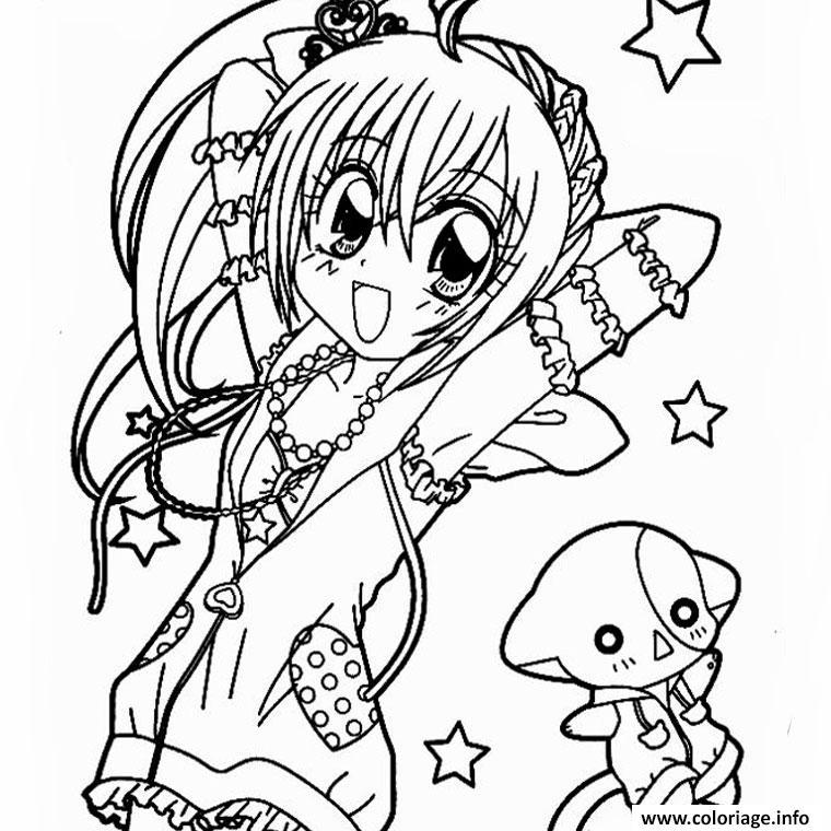 Coloriage Fille Manga 3 Dessin