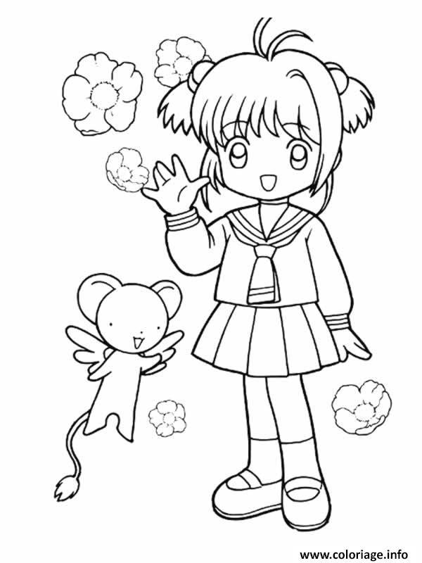 Coloriage Fille Manga 15 dessin