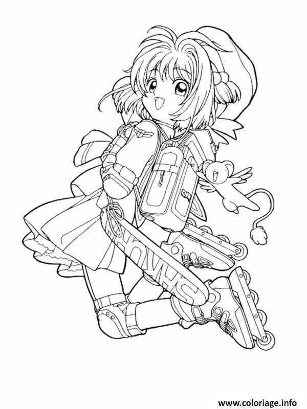 Coloriage manga 44 - Manga dessin a imprimer ...