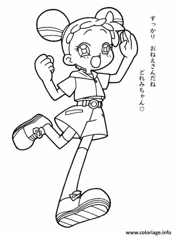 coloriage fille manga 137 dessin