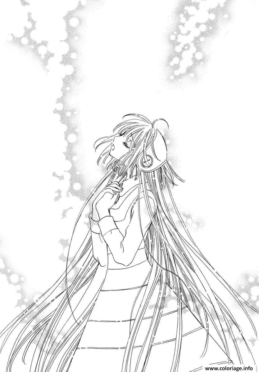 Coloriage Fille Manga 26 dessin