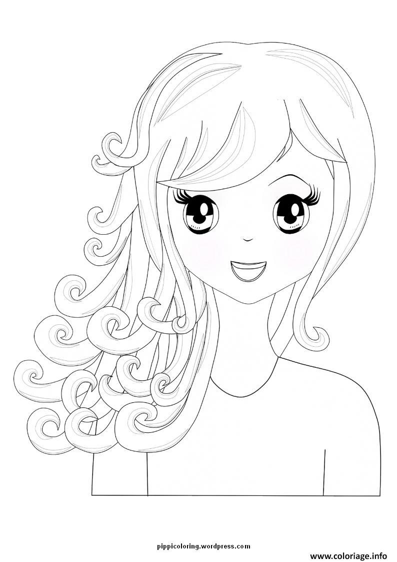 Coloriage fille manga 28 - Coloriage manga fille ...