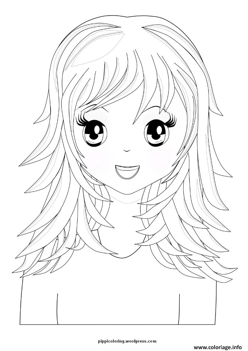 unwashed hair for coloring pages - photo#12