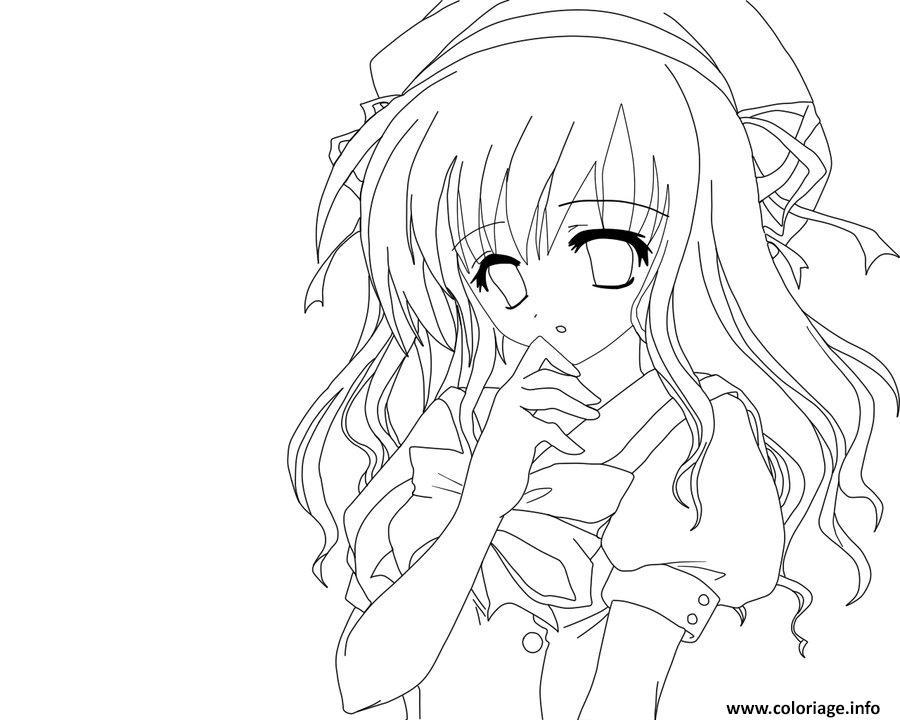 Coloriage fille manga 2 - Manga dessin a imprimer ...