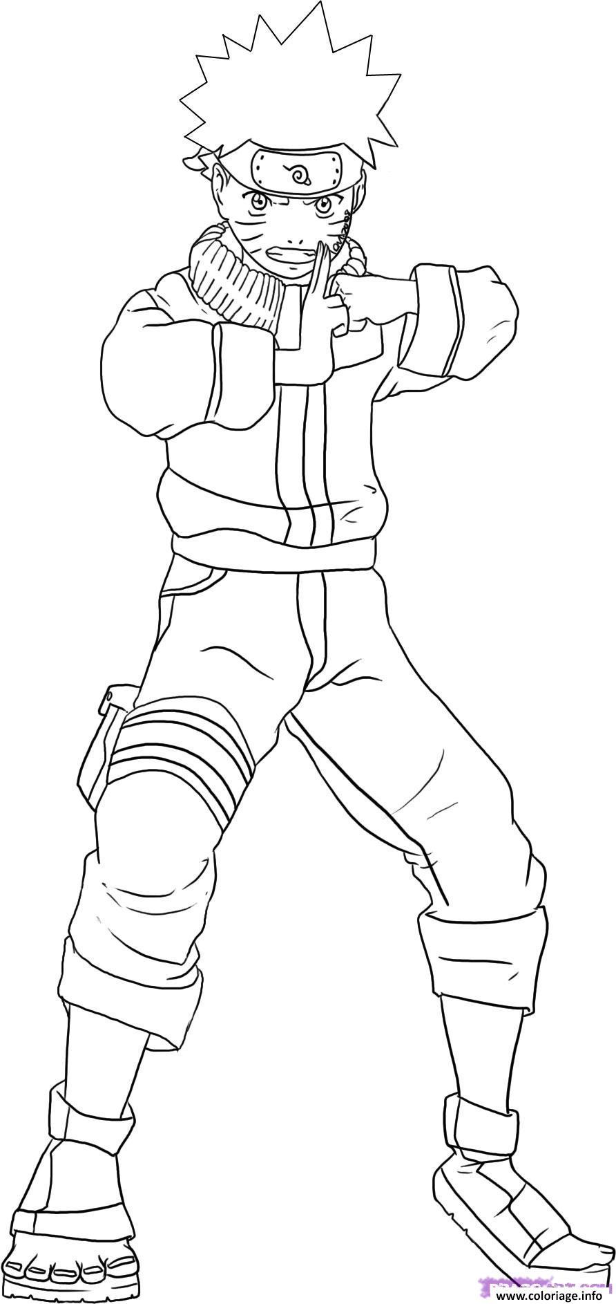 Coloriage Manga Naruto 229 dessin
