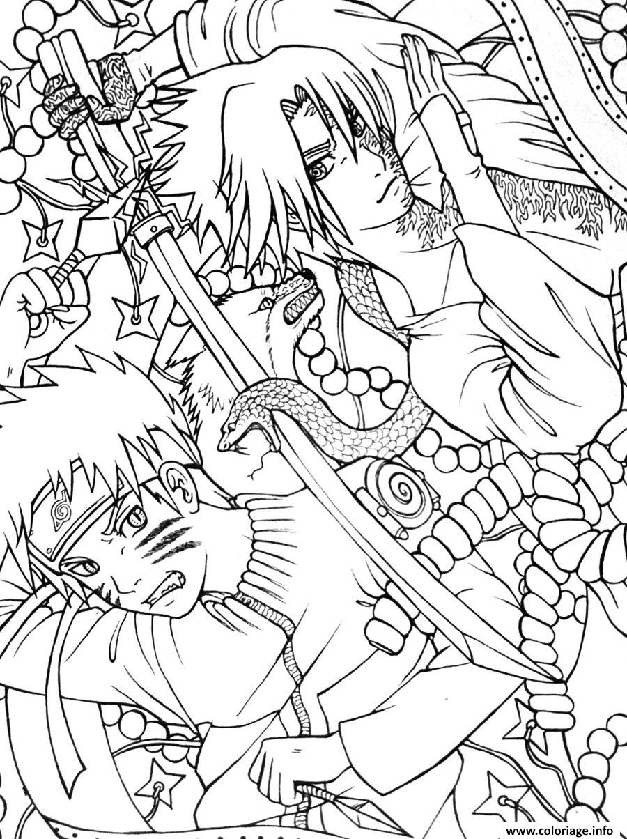 Coloriage manga naruto 25   JeColorie.com