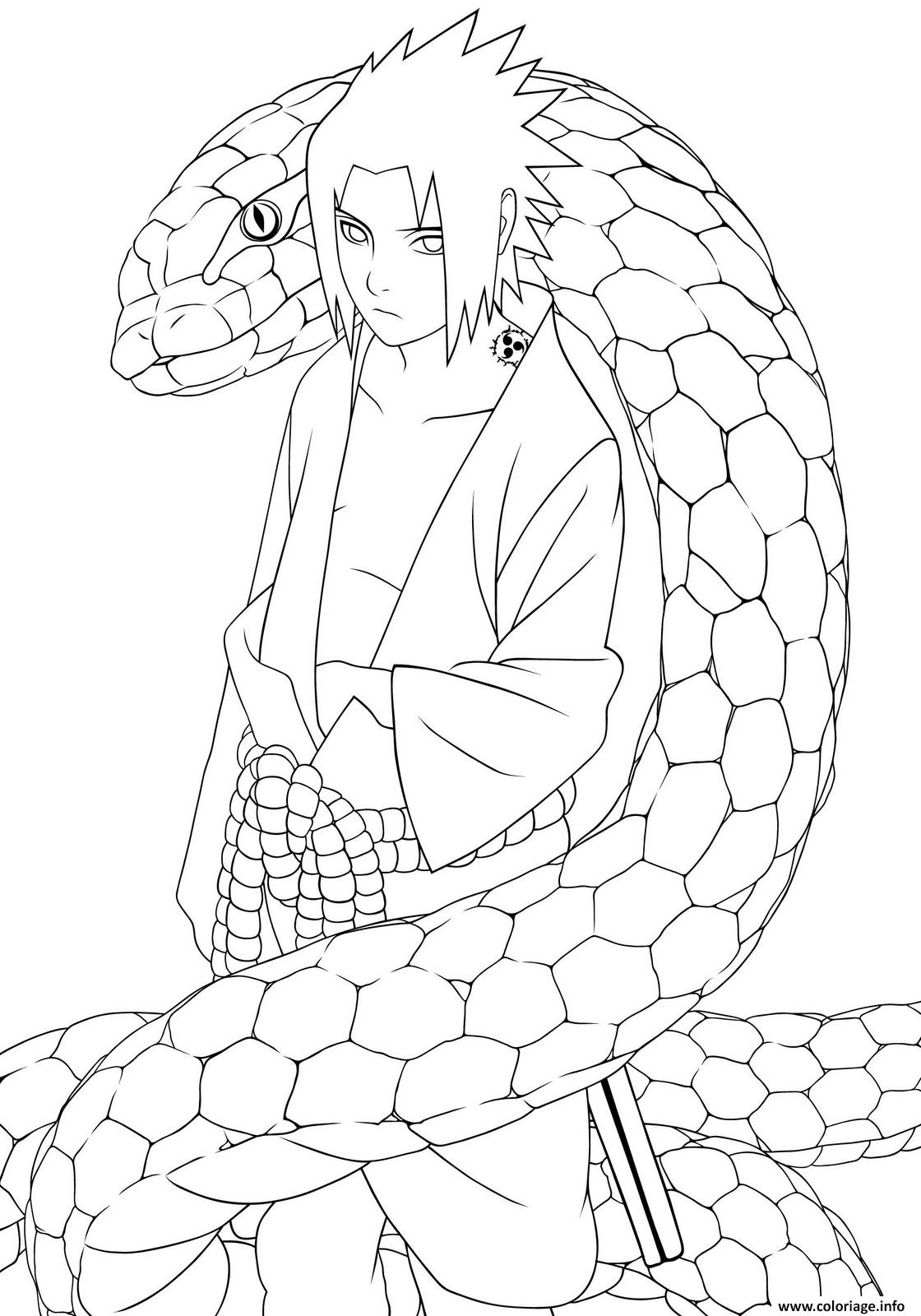 Dessin manga naruto 2 Coloriage Gratuit à Imprimer