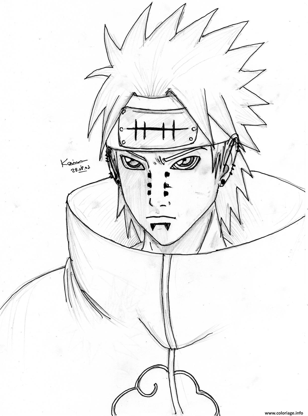 Coloriage Manga Naruto 120 Jecolorie Com