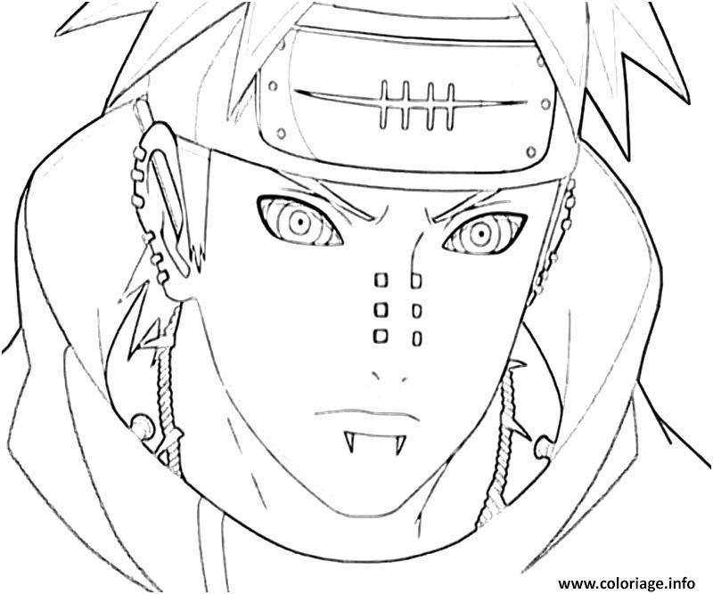 Dessin manga naruto sasuke 277 Coloriage Gratuit à Imprimer
