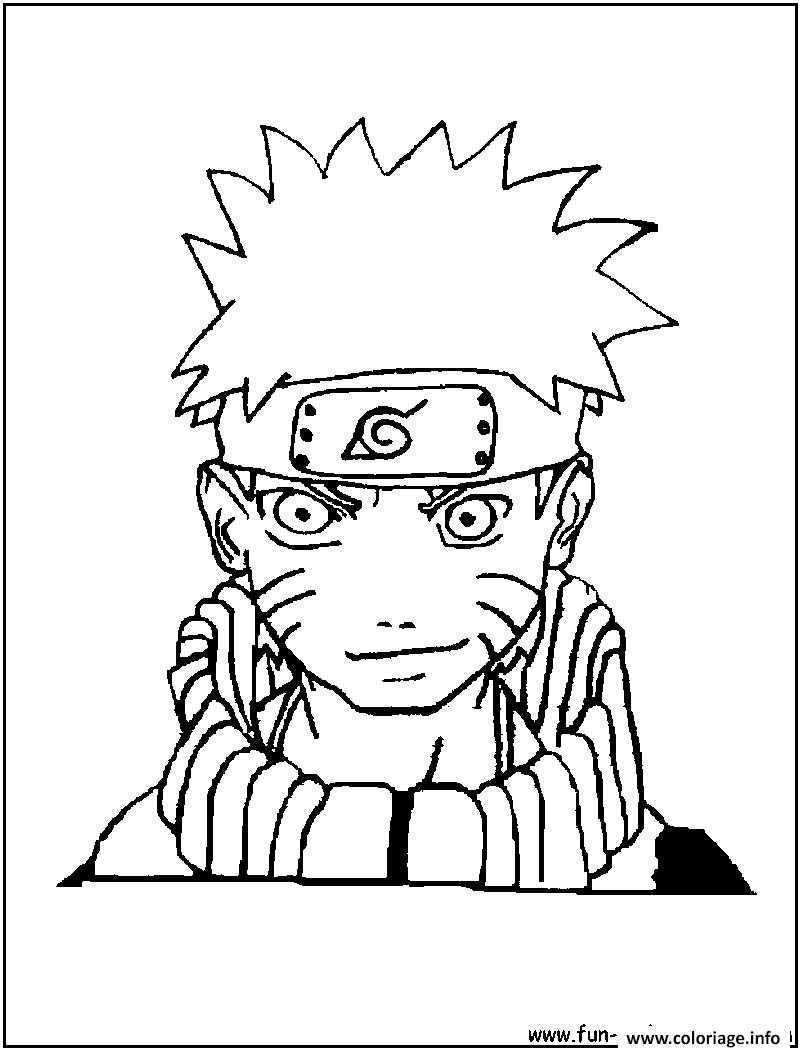 Dessin manga naruto sasuke 284 Coloriage Gratuit à Imprimer