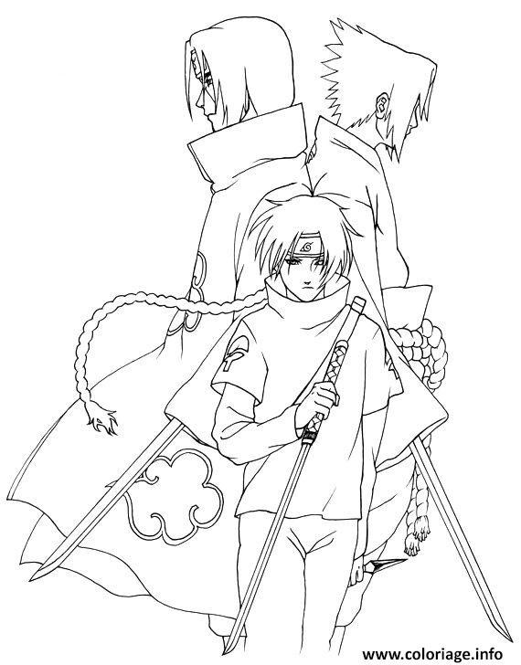 Dessin manga naruto shippuden 293 Coloriage Gratuit à Imprimer