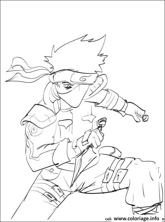 Coloriage Manga Naruto 118 dessin