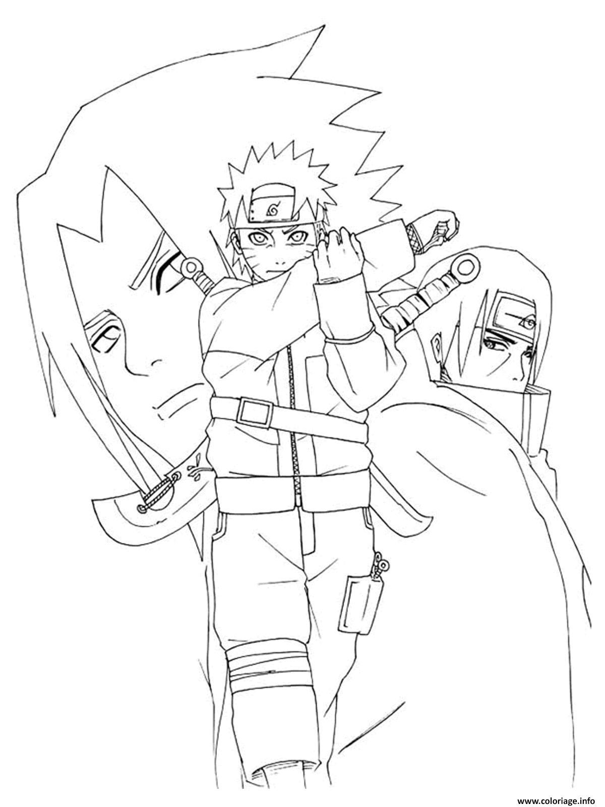 Inspirant Dessin Coloriage Naruto