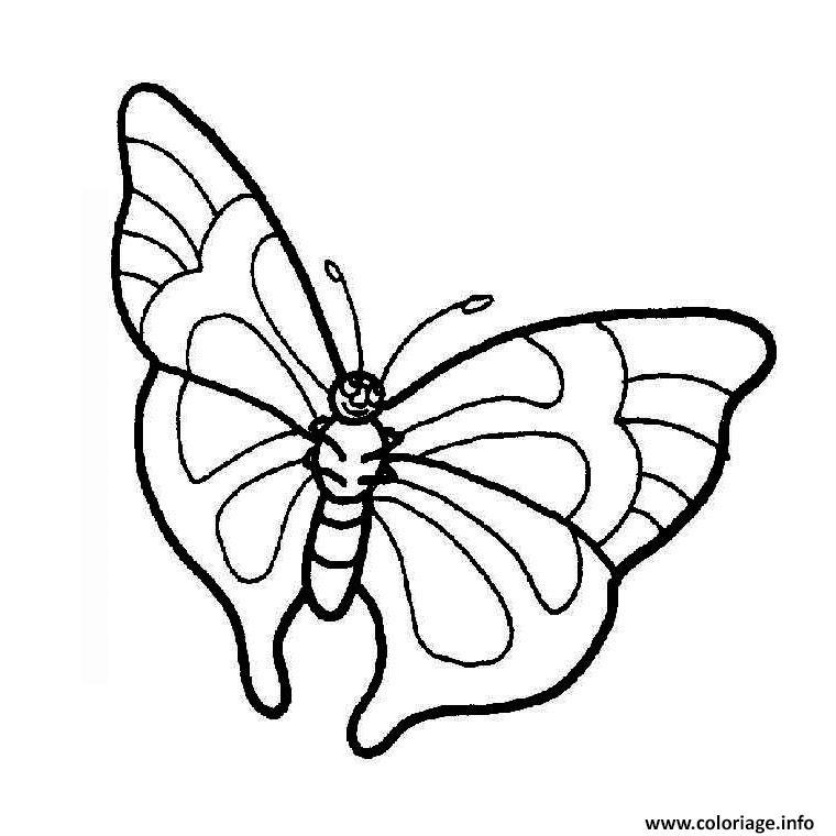Coloriage papillon tribal dessin - Modele de papillon a imprimer ...