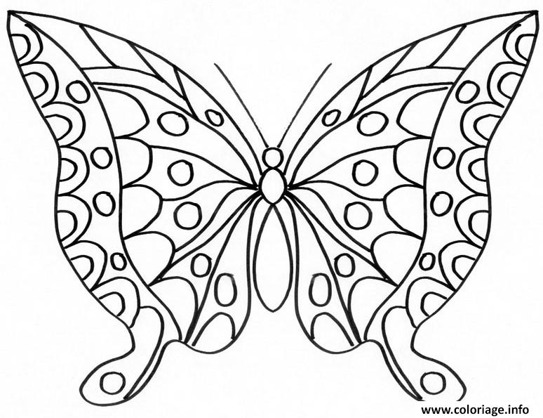 Coloriage Papillon 223 Dessin