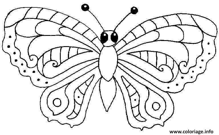 Coloriage papillon 17 - Dessins papillons ...