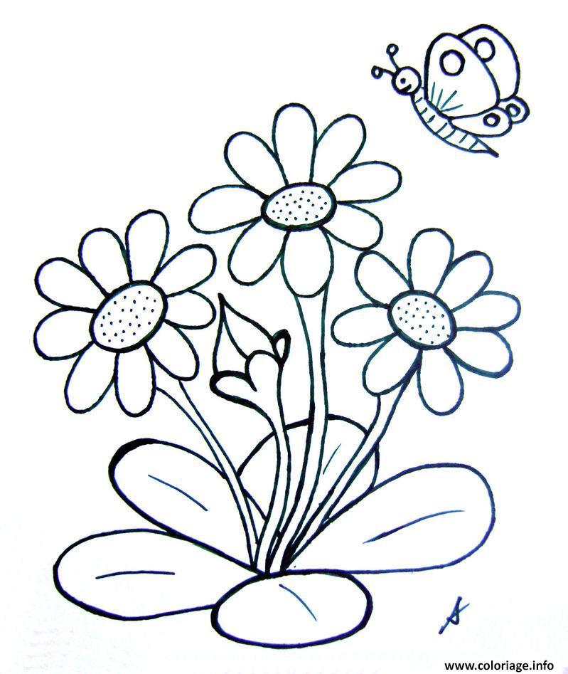 Coloriage papillon 177 dessin - Fleur en coloriage ...