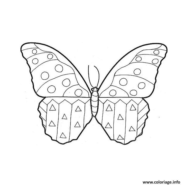 Coloriage papillon maternelle dessin - Coloriage fleurs maternelle ...