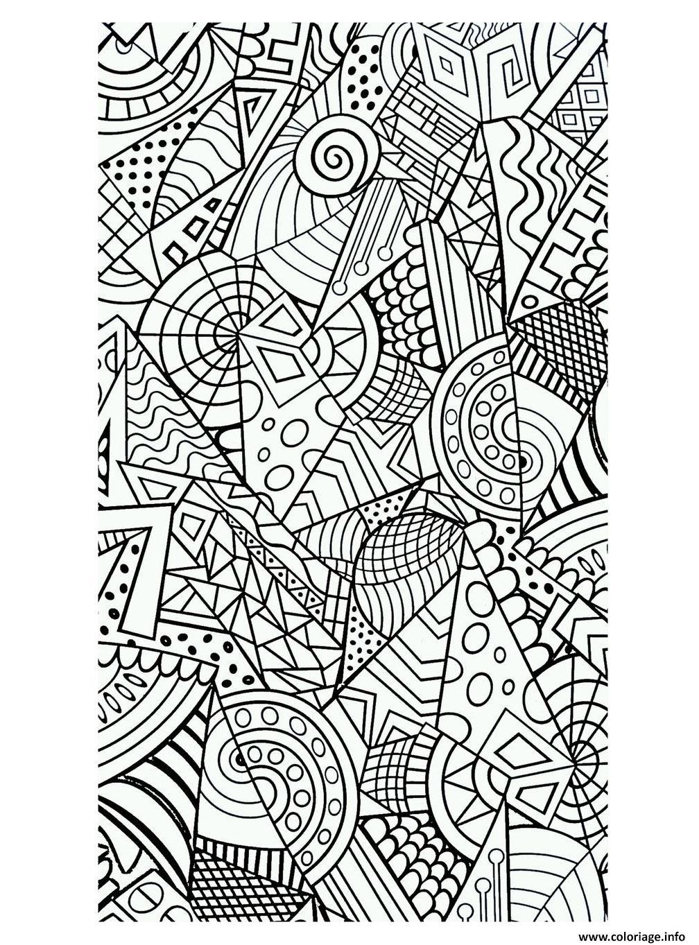 coloriage anti stress geometrique