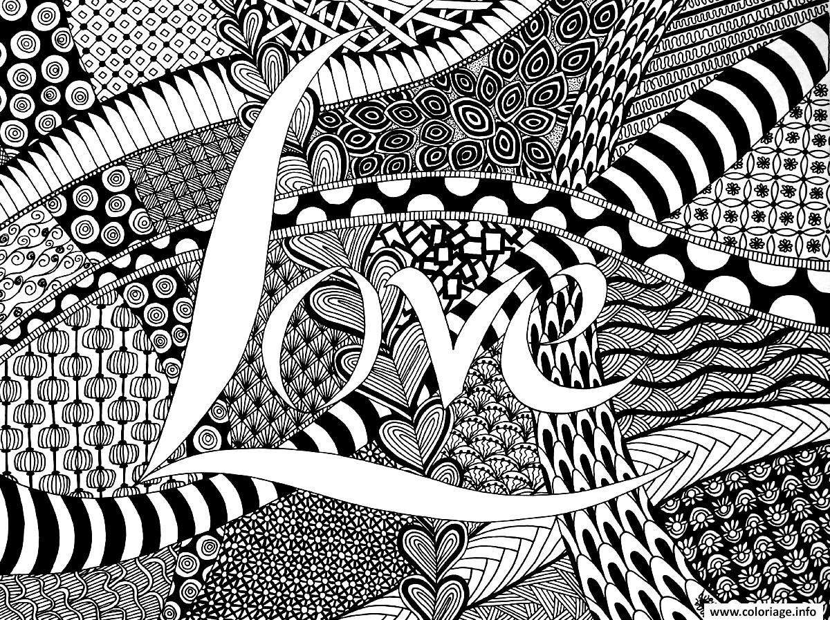 Coloriage amour zen dessin - Zen coloriage ...