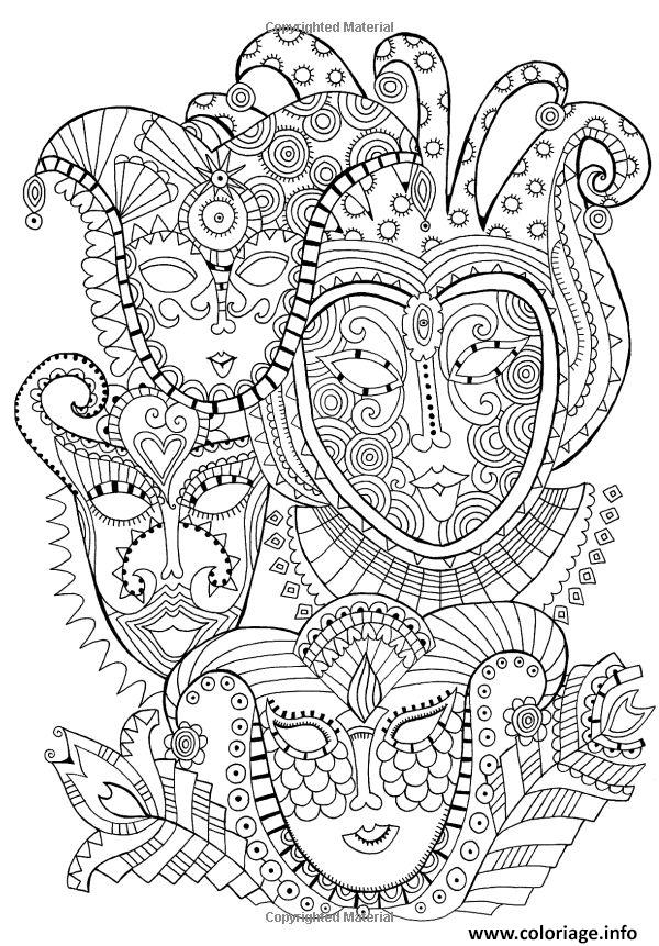 Coloriage Masques Carnaval Dessin