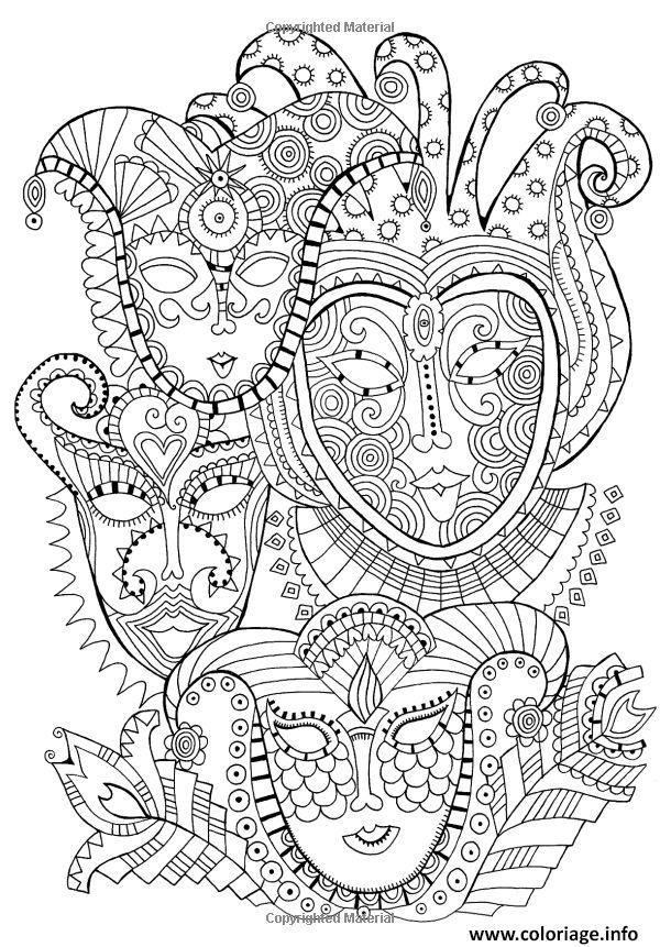 Coloriage Masques Carnaval Dessin