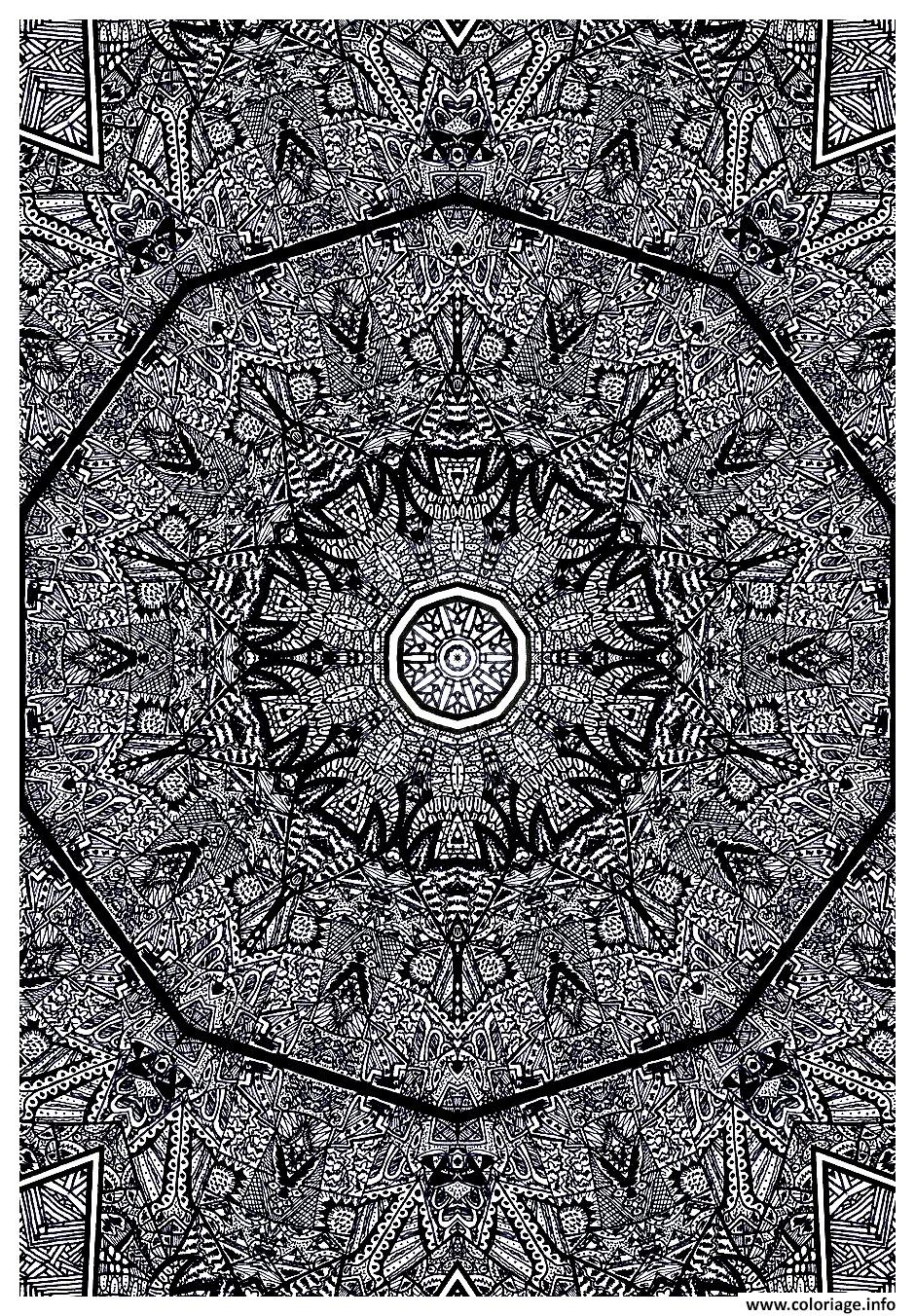 Coloriage Anti Stress Kaleidoscope.Coloriage Kaleidoscope By Intentonabstract Jecolorie Com