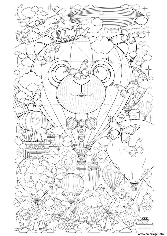 Coloriage Adulte Montgolfiere Zen Anti Stress A Imprimer dessin